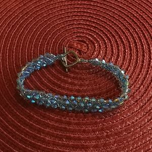 """🌵 3 For $20 8"""" blue & purple sparkly beads"""